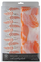 Shower curtain peach color shower curtain