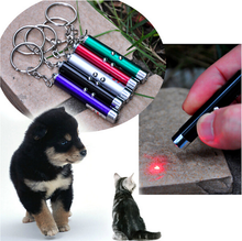 2 In1 Red Laser Pointer Pen With White LED Light Show Funny Pet stick Childrens Cat Toy 2015 New Hot