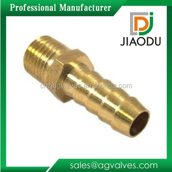 factory price best sale lead free customized forged 1/4 inch cw617n brass copper male threaded hose barb fitting dimensions
