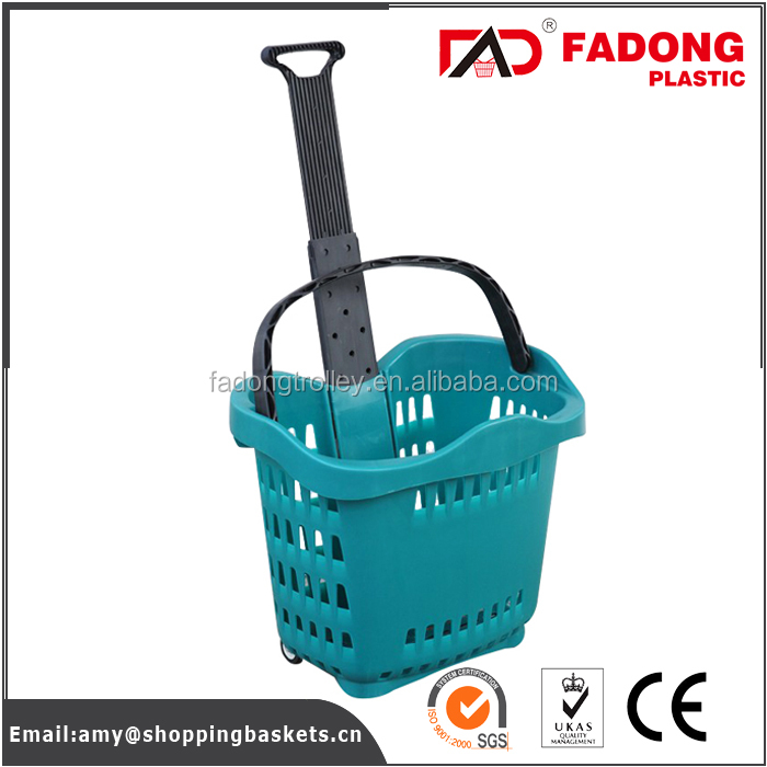 hot selling small plastic folding retail shopping basket