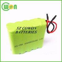 Ni-MH 12v AAA 600mAh battery pack 12v rechargeable battery pack nimh customized nimh pack factory price
