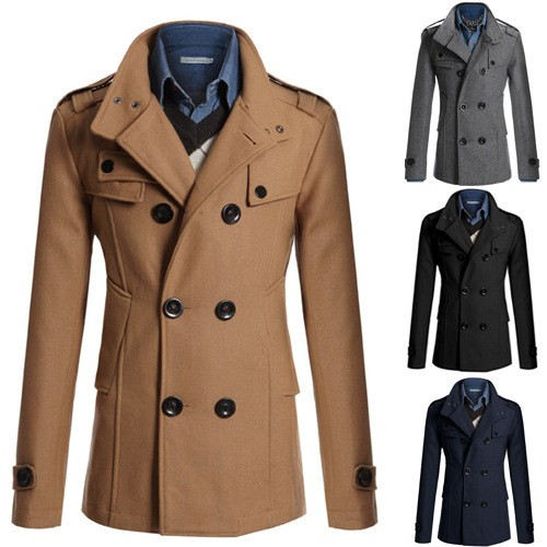 2016 New Design Gothic Men's Cape Half Winter Coats