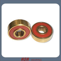 Spin 5 min 20 seconds 627 7mm axle golden color titanium figure artistic quad skate bearing