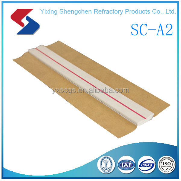 A2 Flat type & round groove 12mm ceramic welding backing material
