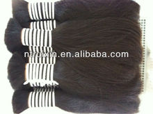 raw Hair material 26inch 65cm remy double drawn chinese human hair, all hair is same length