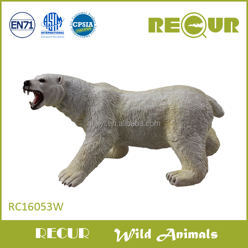 Recur Wild Animals hard plastic polar bear toy