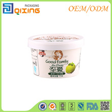 200ml disposable ice cream paper cup with lid