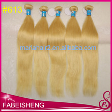 top selling 100 human hair Platinum blonde silicone weft hair