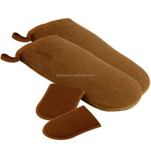 Self Tanning Applicator Mitts 2 Double Sided Large Mitts and 2 Mini Facial Tanning Mitts for Sunless Tan Lotions and Sprays