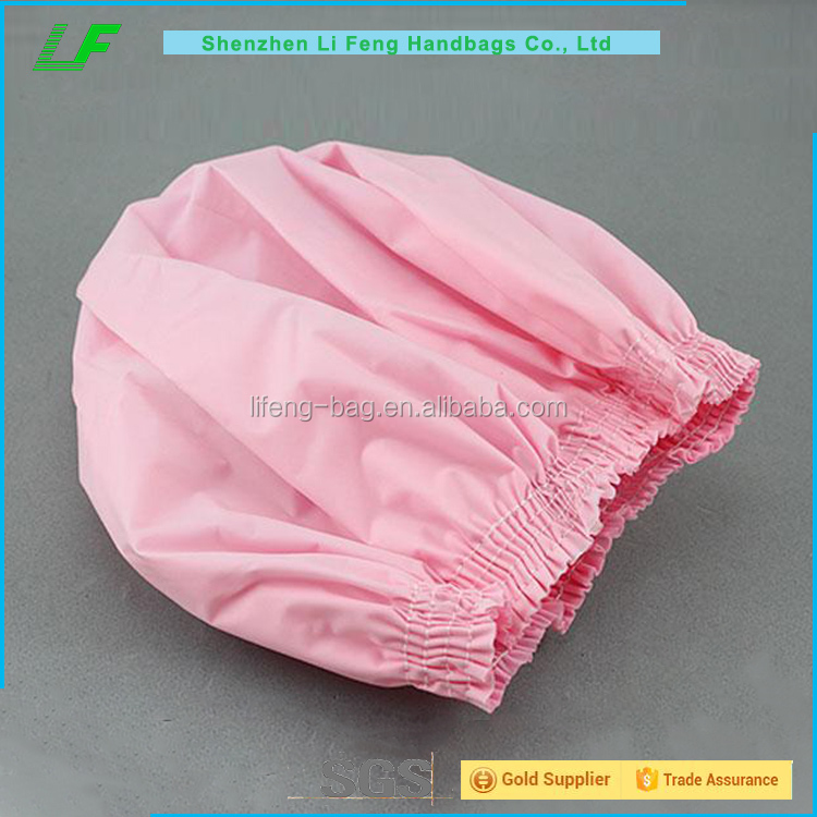 Pink pvc shower cap for girls, cheap wholesale pvc shower cap