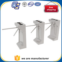 Fingerprint access control stainless steel 304 tripod turnstile for security