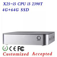 ULP X25-I5 2390T 4G RAM 64G SSD Aluminum computer case Htpc mini itx Desktop pc case atx Support win 7 XP system