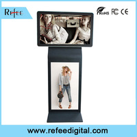 shopping mall dual screen touch advertising kiosks