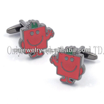 top quality robot cufflinks and tie clip sets custom design cufflnks