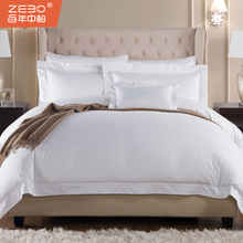 Hot sale 60*40s 300T bed sheet set bed cover sheet for hotel linen