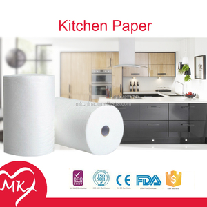 New design absorbent kitchen paper 100% virgin wood pulp colored paper towels