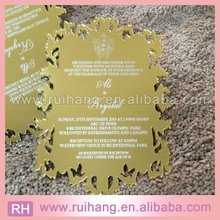 Laser Leaf Mirror Acrylic laser Wedding Invitation for Invitation Wedding Gifts