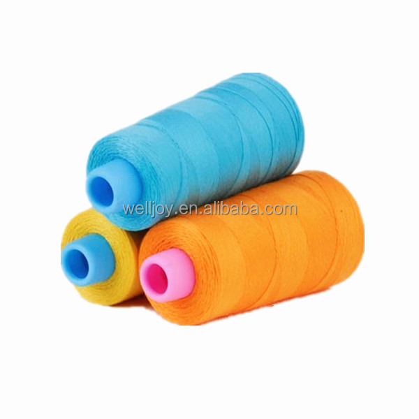 dyed pattern sewing thread for twill cotton fabrics