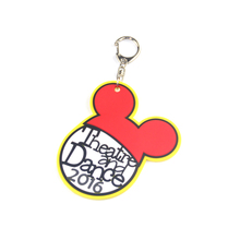 New Style Cute Cartoon PVC Rubber Keychain for Promotion