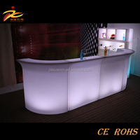 Nightclub/KTV/Bar plastic led bar counter with ice bucket with bluetooth/voice control function