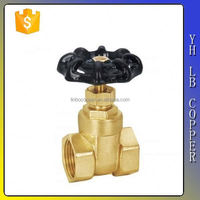 China supplier resilient seated brass gate valve with iron sheet handwheel LINBO-C404