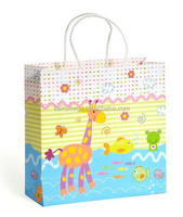 Novel and new design cartoon child paper bag for gift