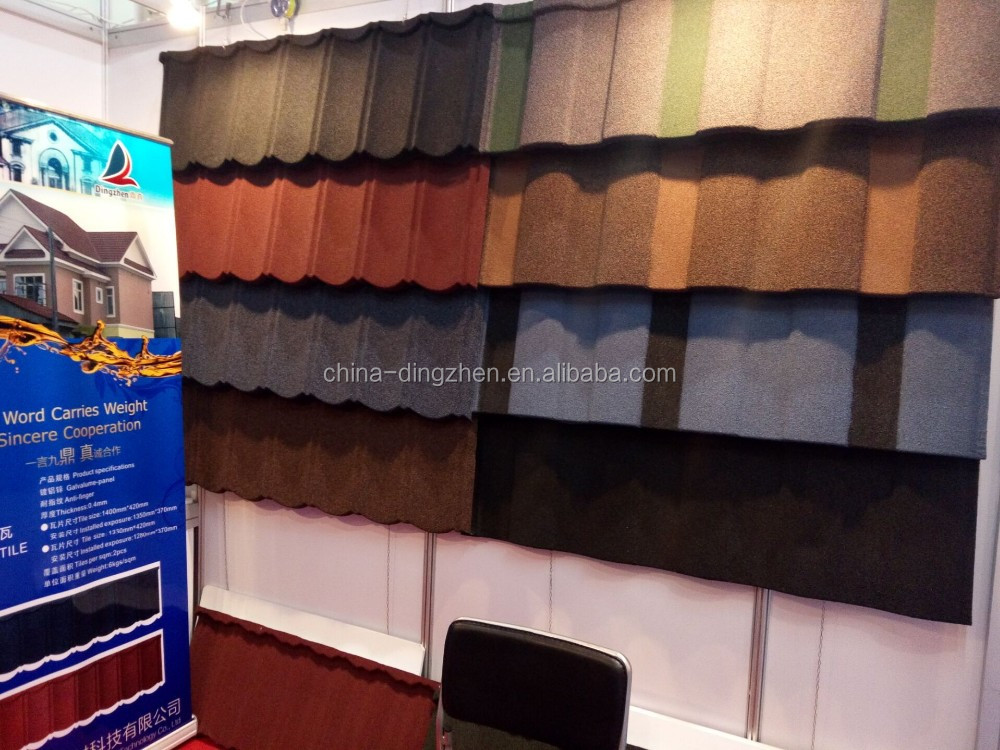 New Building Materials Stone Coated Aluminium Roof Tile