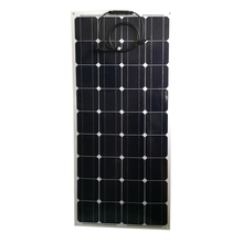 marine etfe 18v black 12v mono semi flexible solar panel 100w from china manufactuer