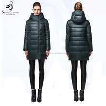 2017 women long style foldable ultralight down jacket for winters woman