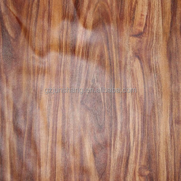Wooden embossed semi PU leather upholstery vinyl material with metallic color