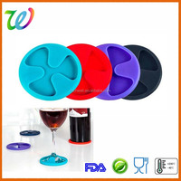 New design silicone fit wine drink glass coasters