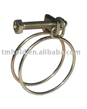Double wires pipe clamps(screw:G8.8)