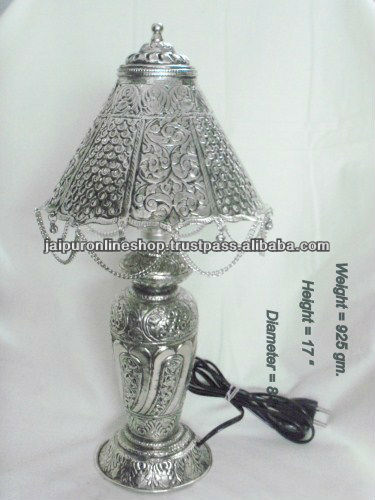 German Silver Products and Table Lamp