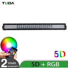 Cheap Dot Approved 180W Multi Color Wireless Remote Control 2 Row Rgb 5D Led Light Bar