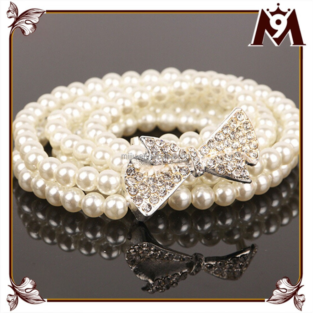 Made in vietnam products women's pearl diamond decorate wedding dress belt