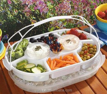 plastic tray with dividers,dividers tray with lid,portable food tray