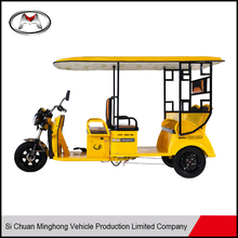 2017 popular best sale passenger electric tricycle with roof / cheap passenger tuk tuk for sale made in china