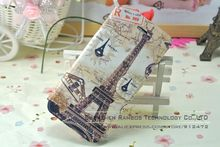 Luxury Pairs Fashionable Eiffel Tower Magnetic Credit Card Wallet Leather Flip Cover Stand Case for iPhone 5 5S
