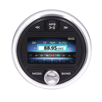 Bluetooth Marine Gauge Radio Waterproof Stereo Receiver for Boat Car ATV RV MP5 with video input