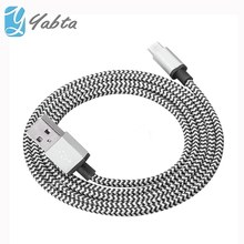 New fashion Aluminum Alloy Head W Stripe Braided charging 5 pin micro cable for Android Galaxy devices