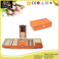 Free Sample Customize chinese antique jewelry box with mirror