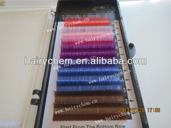 Rainbow colors Faux mink eyelashes extension tray