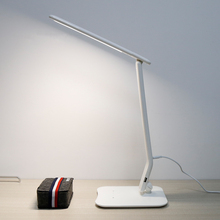 Portable Touch Sensor Folding and Dimmable Led Desk Lamp with USB Charger