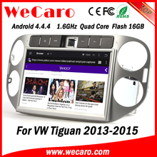 Wecaro WC-WT1013 Android 4.4.4 gps 1080p for volkswagen tiguan navigation 2013 2014 2015 OBD2