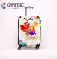 2016 Colorful Sky Travel Luggage ABS Scarched Pattern 4 Wheels TSA Lock ABS PC Travel Luggage ,Suitcase