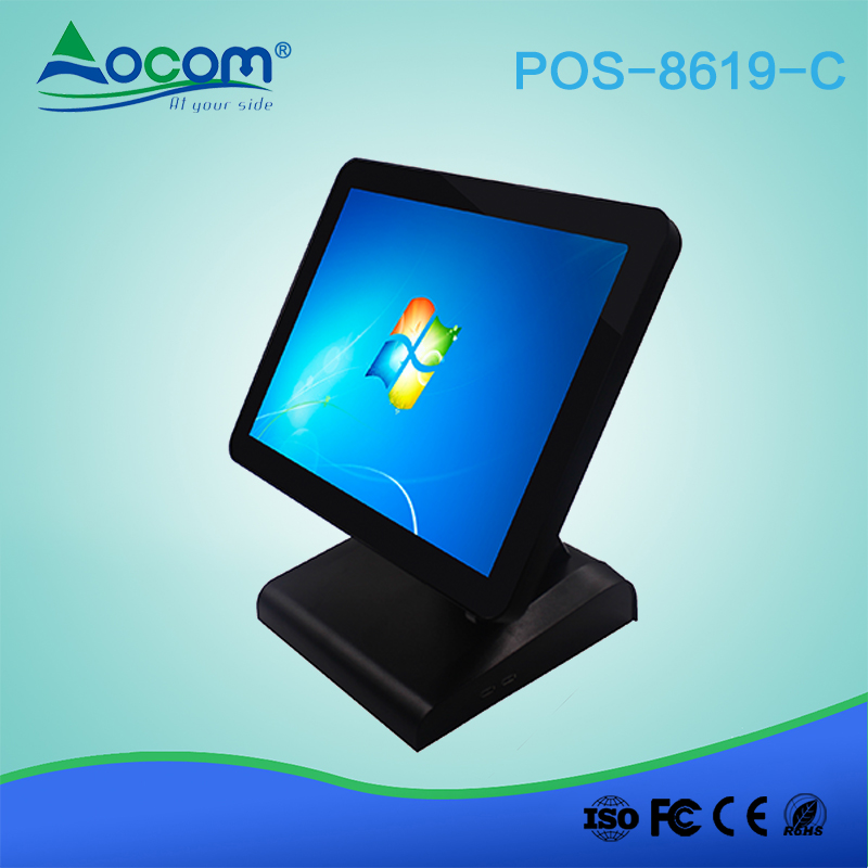 POS8619 15 Inch All-in-one Touch POS Machine Dual Screen Available For Cash Register