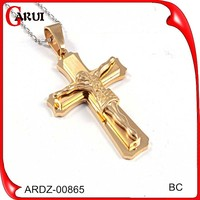 large cross pendants costume jewelry gold fashion cross pendant with baby jesus