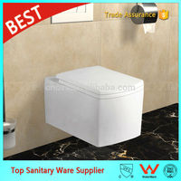 p trap toilet wall hung toilet square design