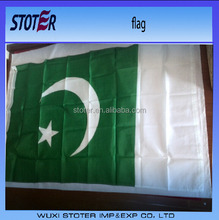 stock 3*5ft 100%polyester Pakistan national flags