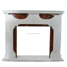 natural marble mix color hand carved used electric fireplace mantel